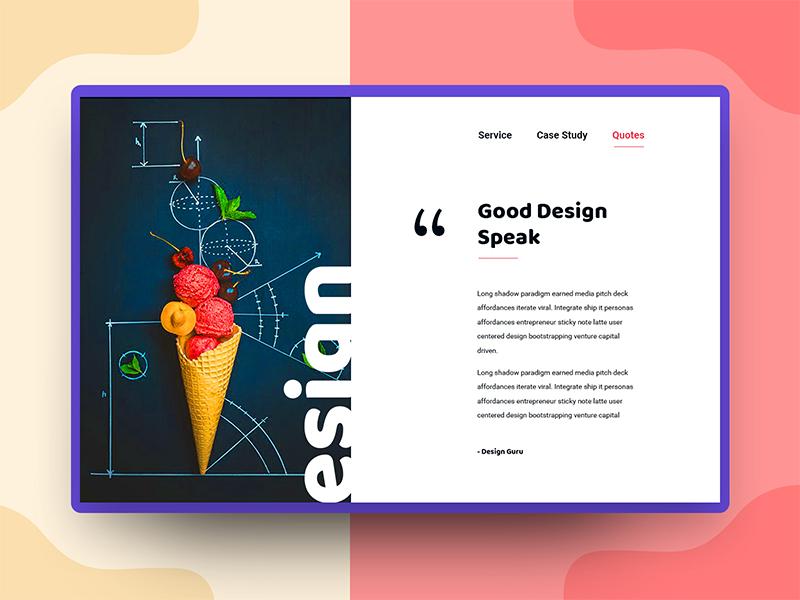 Good Design quotes creative design minimal header exploration good design web design ux ui