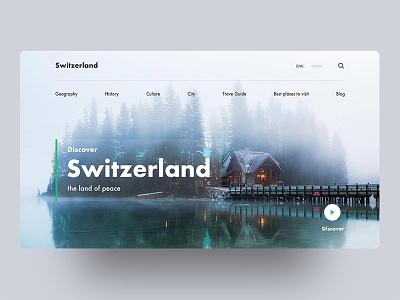 Switzerland - Country series - 01 beauty switzerland country creative design minimal header exploration good design web design ux ui