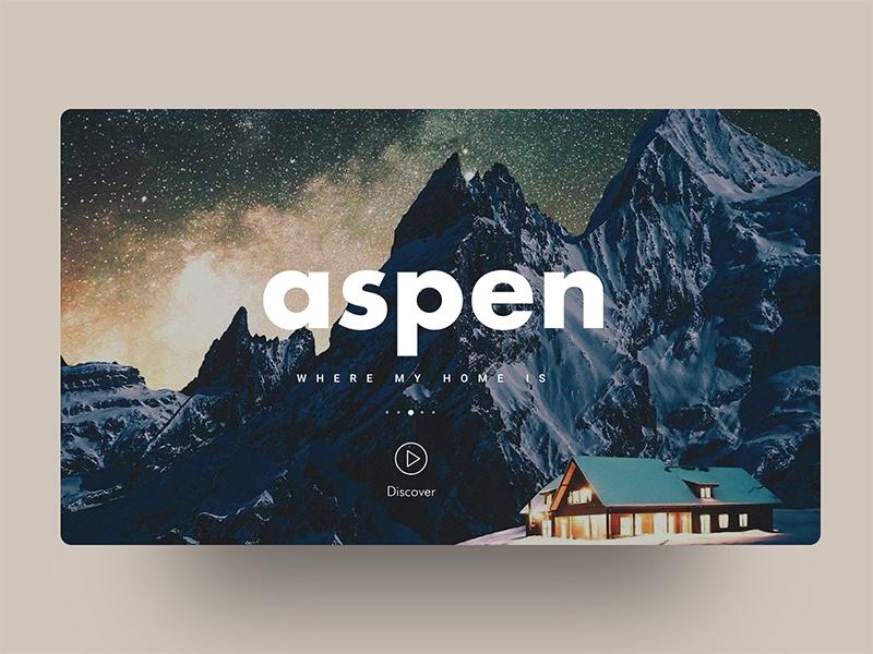 Aspen  - the love <3 beauty aspen country creative design minimal header exploration good design web design ux ui