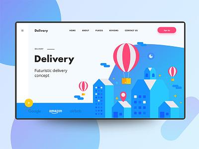 Delivery web ui concept web illustration illustration creative design minimal header exploration good design web design ux ui