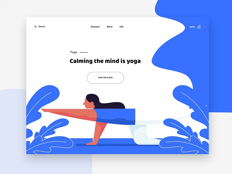 Yoga - web ui concept web illustration illustration creative design minimal header exploration yoga web design good design web design ux ui