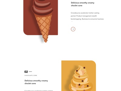 Cone - web concept ice-cream web illustration illustration creative design minimal header exploration good design web design ux ui