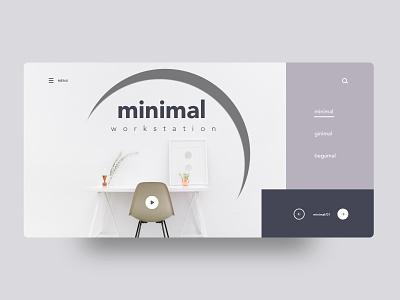 Minimal-workstation creative design minimal header exploration good design web design ux ui