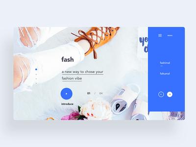 Fash - fashion web ui concept