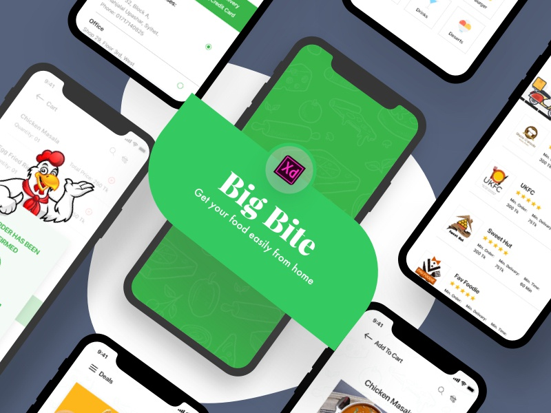 Big Bite  IOS UI KIT dribbble design ui kit ios color design apps food apps ui screen ux ui