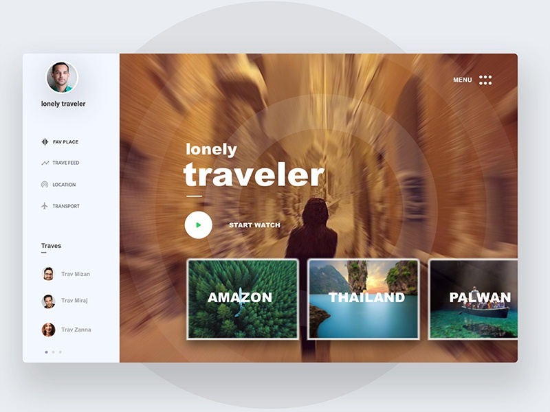 Lonely travler dribbble