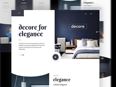decore interior home page creative home page landing page realstate ueno minimal interiror norde design web ux ui