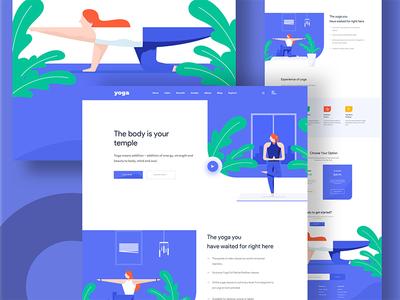 Yoga Illustration web design yoga web design web illustration illustration creative design minimal norde good design web design ux ui