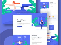 Yoga Illustration web design