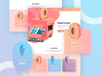 Food truckr web design home page