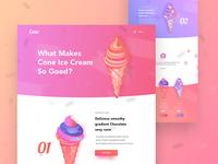 Cone landing page design