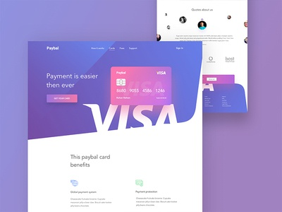 Card landing page visa card master card web design financial web design template gradient colourful shapes financial card landing debit and credit card good minimal design web appication ui ux uiux