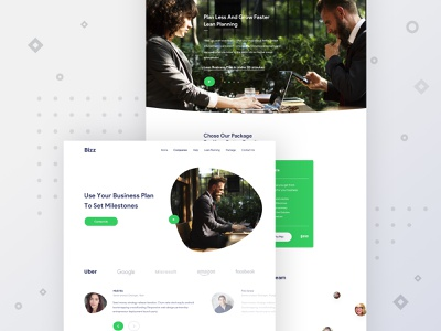 Bizz - Landing page design for business solution mobile design web application design chilling manits corporate landing page design finance web design business landing page design business web landing page design creative design web design landing page ux design ui deisgn