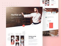 Martial art landing page design
