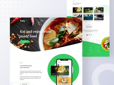 Faty App Landing Page template design restaurant web design chilling mantis food web design food app landing page app landing page landing page ux ui web design