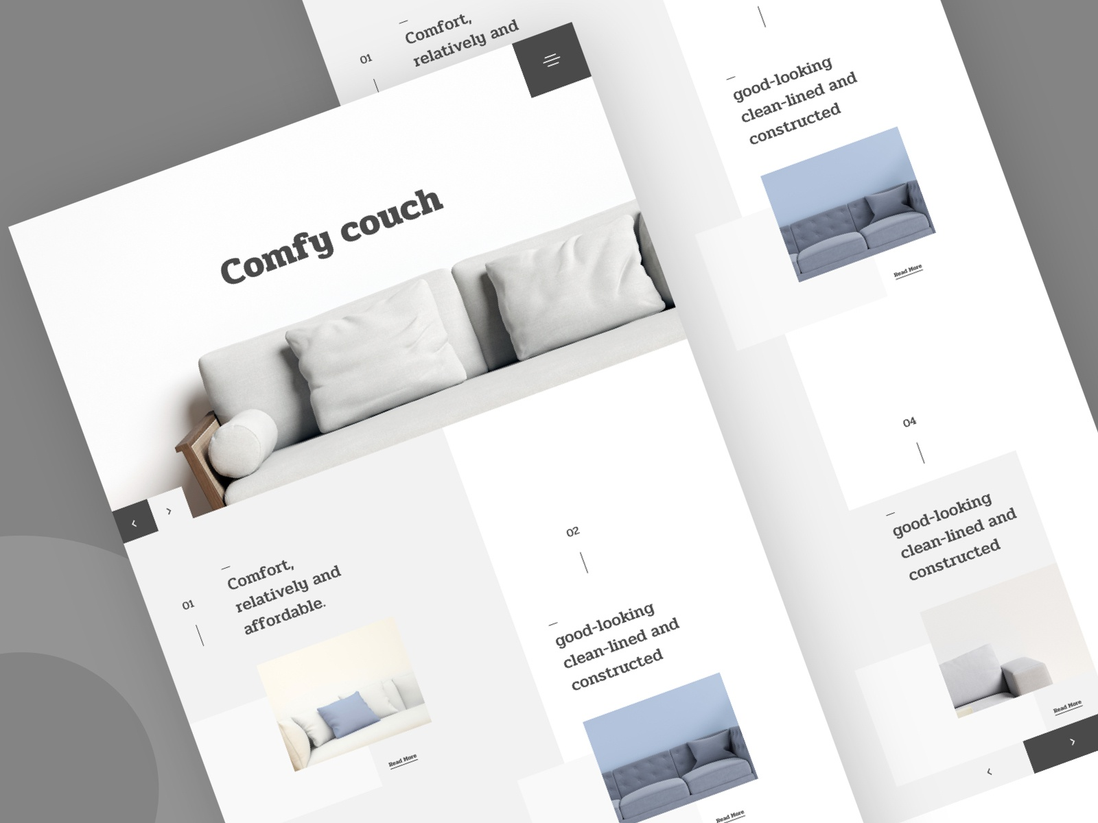 Comfy Couch Landing Page minimal furniture web design furniture web design furniture store uiux chilling mantis minimal web design ecommerce template ecommerce theme ecommerce design landing page minimal ux web design ui