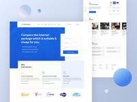 Internetcom - web landing page design
