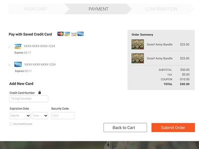 Checkout Cart Payment Page user interface payment checkout ui