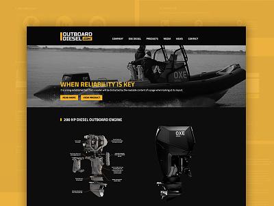 Outboard Diesel Webdesign martime artwork design webdesign website