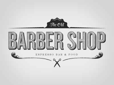 Original Old Barber Shop logo branding identity cafe