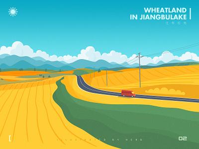 Wheatland in Jiangbulake illustration