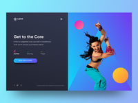 Fitness Web Concept
