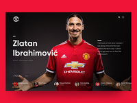 MUFC - Player Profile screen
