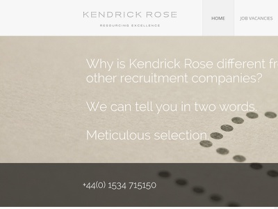 Kendrick Rose - Home recruitment bespoke