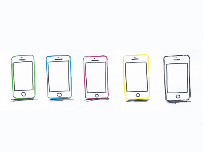 iPhone 5C hand drawn iphone iphone 5 iphone 5c illustration just for fun