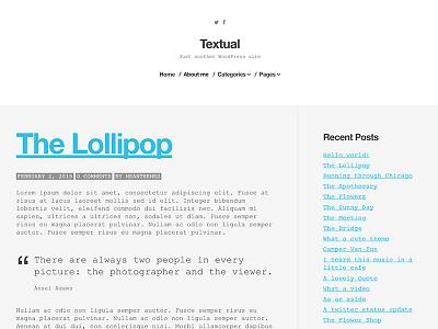 Textual WordPress Blog Theme - WIP monospace minimal blog wordpress meanthemes textual