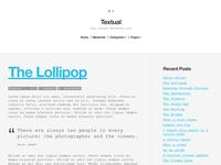 Textual WordPress Blog Theme - WIP