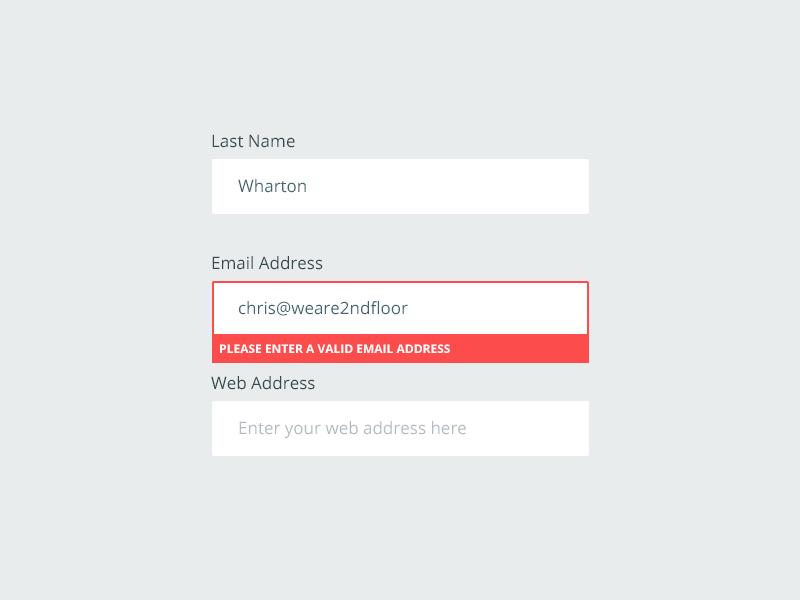Form Elements fields input placeholder validation form