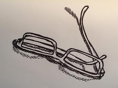 Glasses sketch pen monochrome ink illustration handdrawn glasses