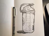 Protein Shake Bottle Sketch