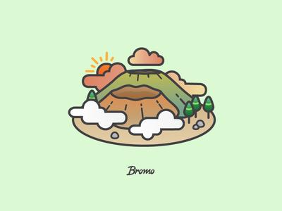 Bromo iconic scene