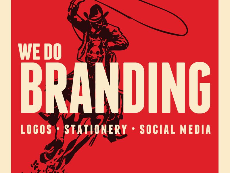 Branding Western typography vector branding