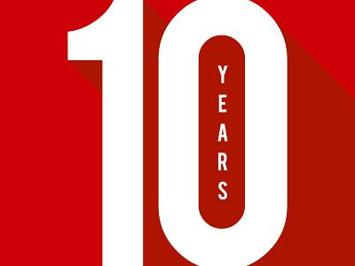 10 Year Anniversary graphic design typography vector