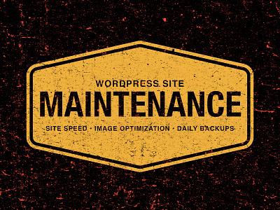 Maintenance design typography vector