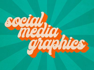 Social Media flat design typography vector
