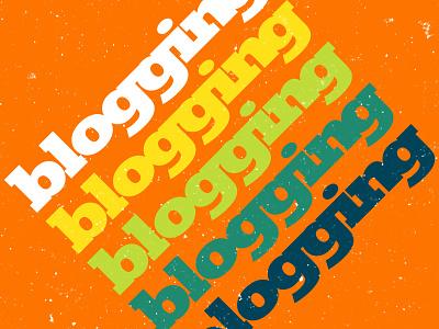 blogging flat design branding typography vector