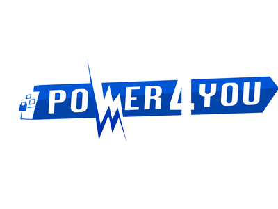 Power4You Logo branding sign design typography illustration company logotype logo