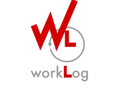 Worklog Dribble branding typography design company logotype logo