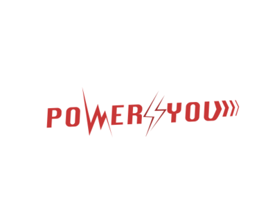 Power 4 You sign typography illustration logotype idenity branding company logo red swiss