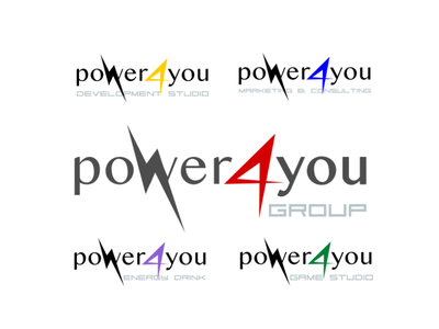 Power4You company logo logo 3d vector idenity sign branding company illustration logotype logo