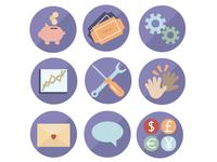Illustrated icon set