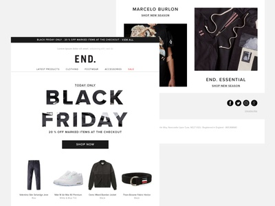 Black Friday Email retail ecommerce email black friday