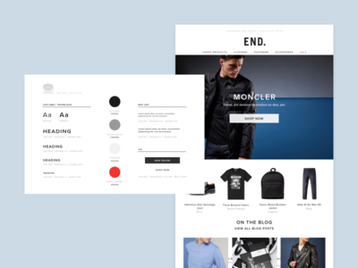 Email - Style Guide e-commerce blocks sketch marketing responsive retail email