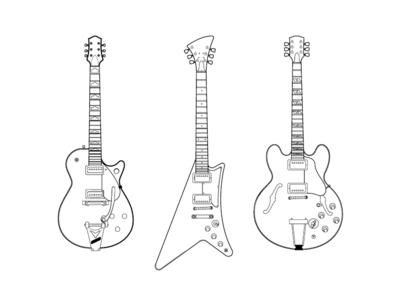 Set of guitars - 2