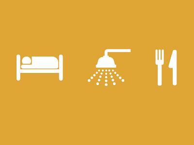 Sneak Peek transit bed sleep hotel shower clean eat resturaunt