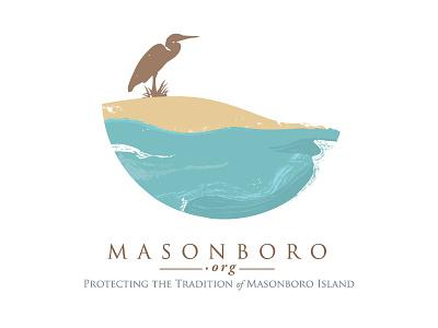 Masonboro.Org logo beach water bird